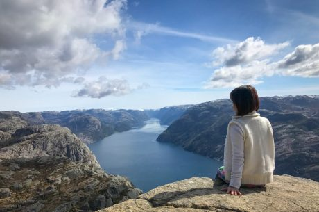 summit at Pulpit Rock, Preikestolen, Norway | How to Become Happier • Made Wanderful
