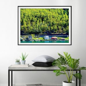 Norway Forest & Cabins Travel Print • Made Wanderful