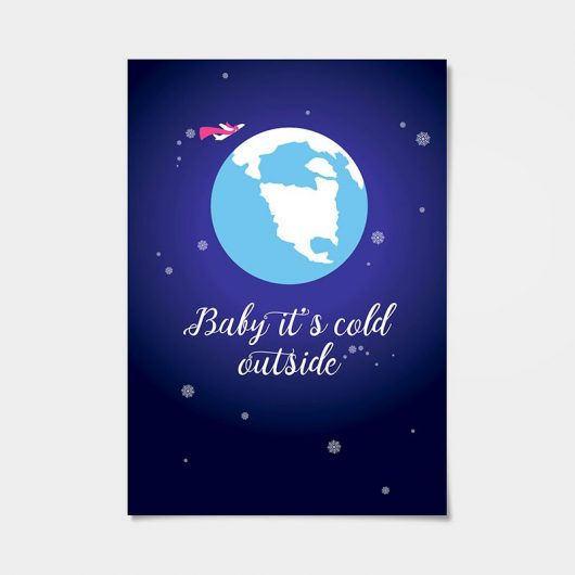Baby It's Cold Outside | Airplane Nursery Wall Art Print • Made Wanderful