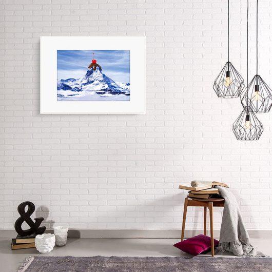 Sundae Mountain Wall Art Print | imaginative photo-manipulation • Made Wanderful