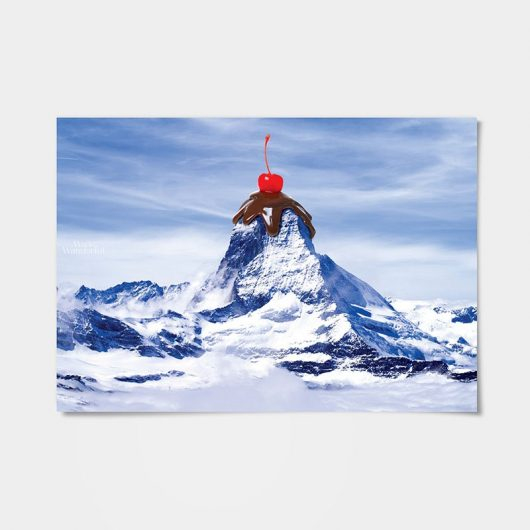 Sundae Mountain Wall Art Print | imaginative photo-manipulation • Made Wanderful