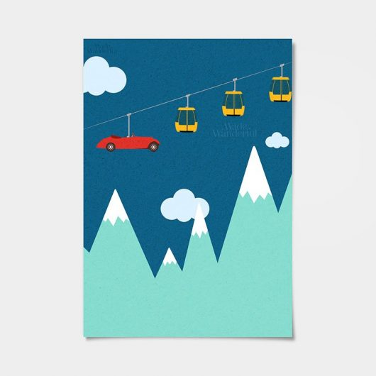 Cable Car Wall Art Print • Made Wanderful
