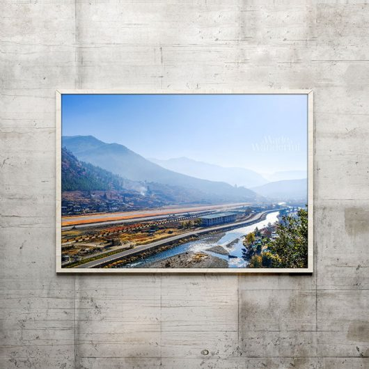 Bhutan Airport & Mountain Silhouettes | Wall Art Print • Made Wanderful
