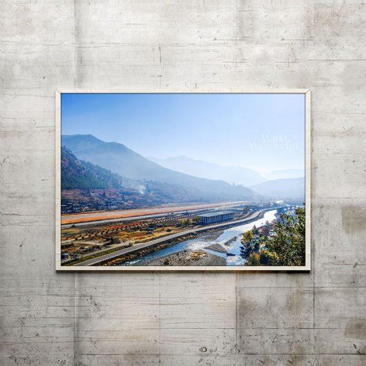 Bhutan Airport & Mountain Silhouettes | Wall Art Print • Made Wanderful