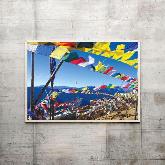 Bhutan Prayer Flags | Wall Art Print • Made Wanderful
