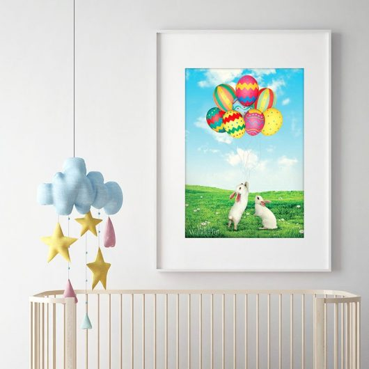 Easter Wall Art Decor | Easter Eggs & Bunny • Made Wanderful