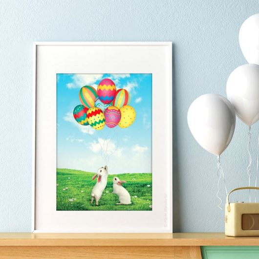 Easter Wall Art Decor | Easter Eggs & Bunny • Made Wanderful
