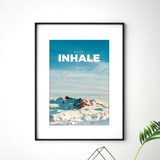 Inhale Exhale Print Typography Art • Made Wanderful