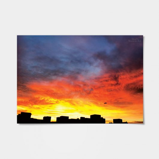 Singapore sunset | wall art | sunset poster • Made Wanderful