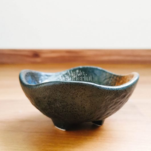 Handmade kiln gllaze ceramic saucer • Made Wanderful